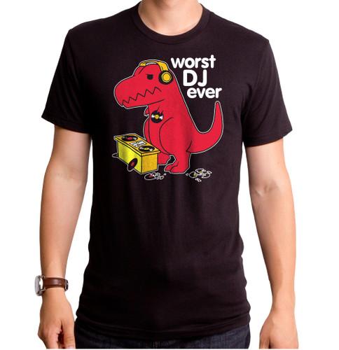 Worst DJ Ever Dino Men's T-Shirt