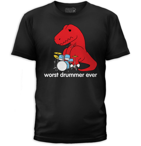 Worst Drummer Ever Dino Men's T-Shirt