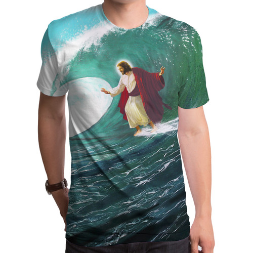 Surfs Up Jesus Sublimated T-Shirt