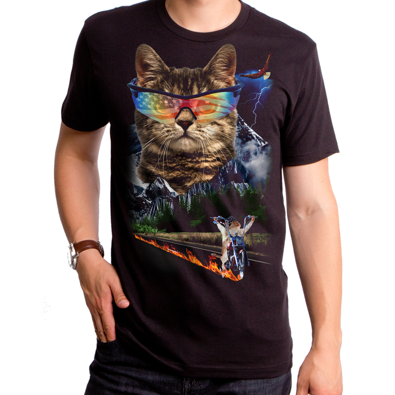 d8a8d991 Meow For Freedom Men's T-Shirt - Funny Cat Shirts, Cat T Shirt ...