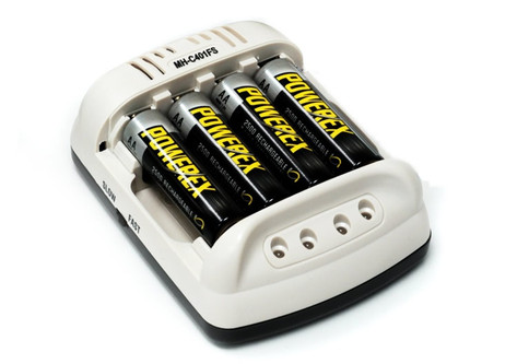 Maha PowerEx MH-C401FS Smart Charger w/ Car Adapter for AA/AAA NiMH rechargeable batteries