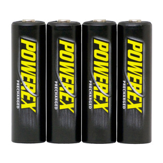 PowerEx PreCharged AA 2600mAh Low Self-Discharge Rechargeable Batteries (4-Pack)