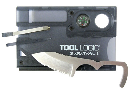 Tool Logic SVC1 Survival Card (w/ Fire Starter & Compass)