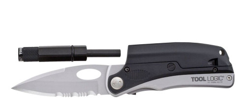 Tool Logic SLP2 Folding Knife (w/ Flashlight & Fire Starter)