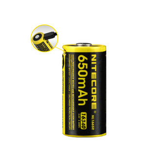 NITECORE NL1665R 650mAh RCR123A/16340 Built-in Micro-USB Rechargeable Li-ion Battery