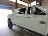 Gloss White Aluminum Headache Rack installed on Dodge Mega-Cab. Shown with Optional LED Light-Bar and LED Work Lights. Made by: Aluminum Tank & Tank Accessories, Inc. Call us today for more details, 1-800-773-3047.
