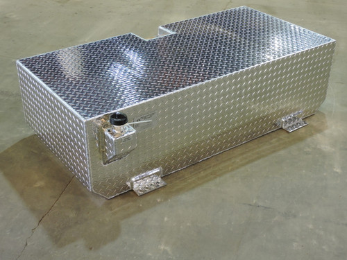110 Gallon Aluminum Auxiliary Fuel Tank Designed for Under Truck Sleeper. Made by: Aluminum Tank & Tank Accessories, Inc. 1-800-773-3047.