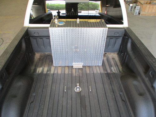 AT46RTF - DOT Legal Transfer Tank PN# AT46RTF. 46 gallon aluminum rectangular transfer tank. Legal for use with Diesel, Gasoline, Ethanol, Methanol and Aviation Fuel. Made by Aluminum Tank & Tank Accessories, Inc.