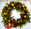 This impressive wreath can be requested in the colour required.