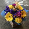 Bright florist choice box arrangement