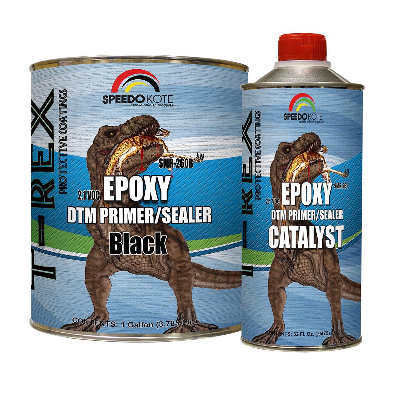 SMR-260B/261  2.1 VOC Epoxy DTM Primer/Sealer Black