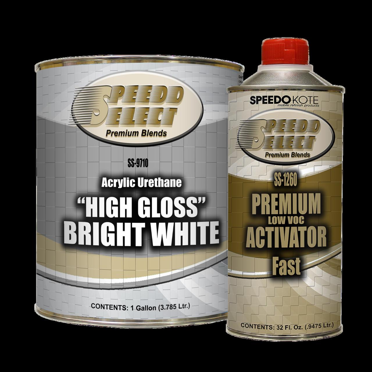 Bright White Acrylic Urethane, 4:1 Fast Kit, SS-9710/1260