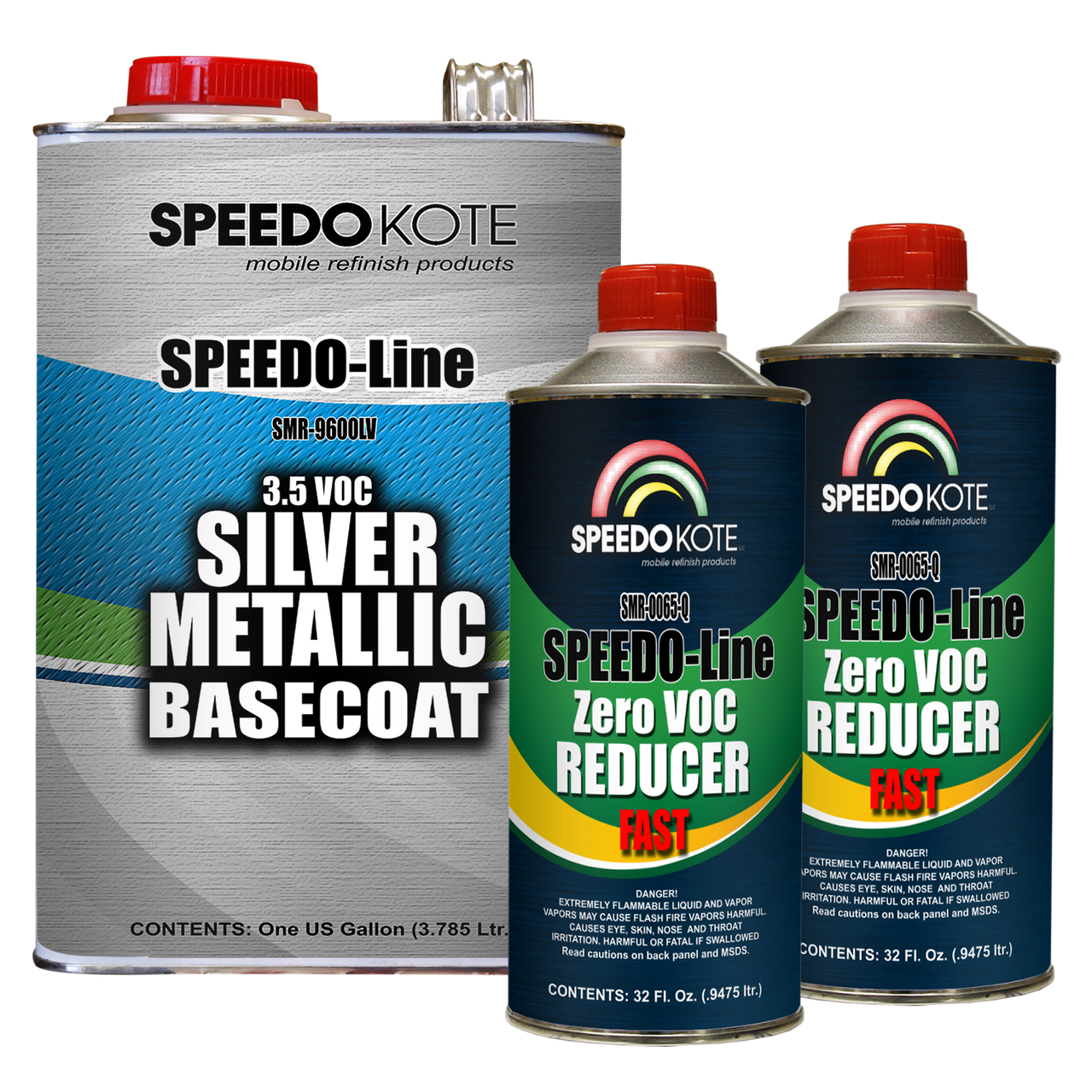 Silver Metallic 3.5 voc Base Coat Kit, Basecoat & Reducer, SMR-9600LV/0065
