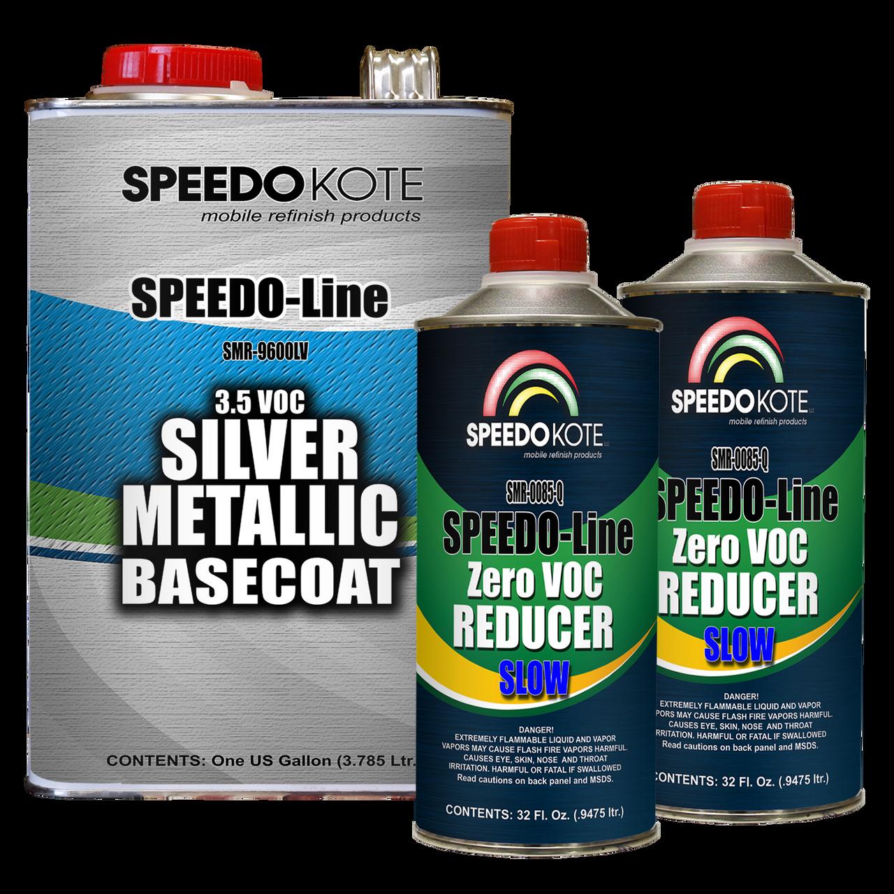 Silver Metallic 3.5 voc Base Coat Kit, Basecoat & Reducer, SMR-9600LV/0085