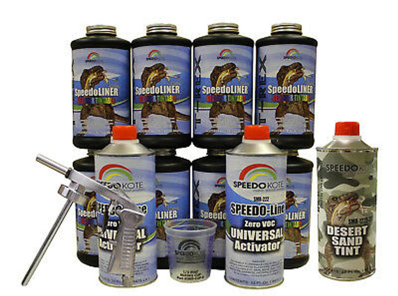 T-Rex Desert Sand Spray On urethane Truck Bed Liner, 8 quart kit, SMR-1000DS-K8