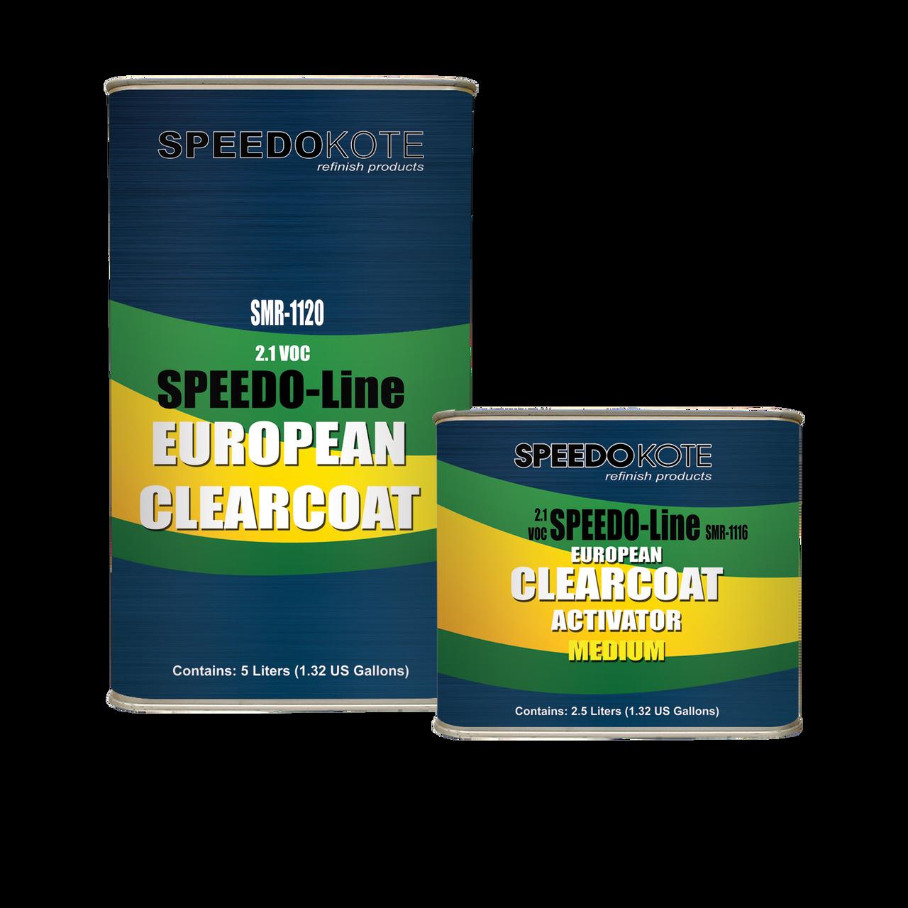 SMR-1120/1116, 2.1 VOC European Clear Coat 2K Urethane Medium Kit