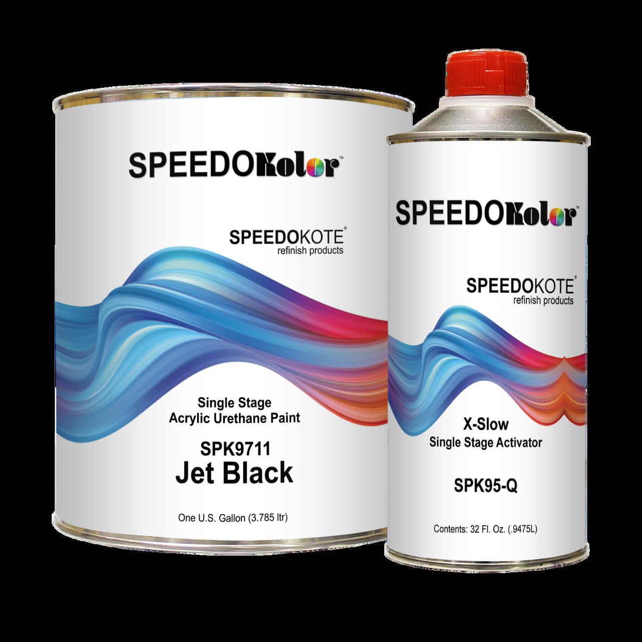 High Gloss Jet Black 2K Acrylic Urethane, 4:1 Gallon Very Slow Kit, SPK9711/SPK95