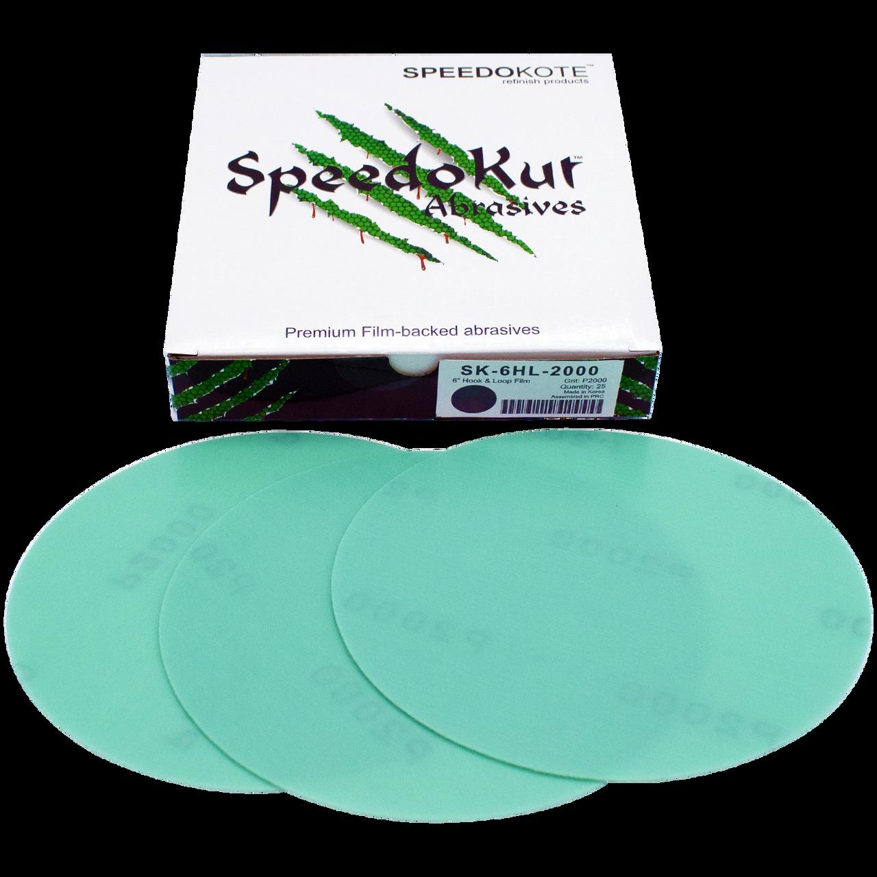 Automotive Sandpaper 2000 grit, Premium Film Backed Abrasive, 6 inch Hook & Loop Discs, 25 pack