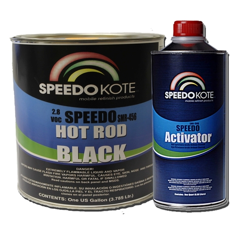 SMR-456 Speedo Hot Rod Black with SMR-150 activator