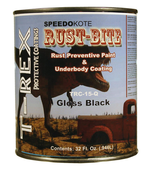 TRC-15-Q, Rust Preventive Gloss Black Paint, Quart