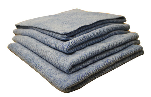 "Edgeless Micro Fiber Towels, 4 Count, 16"" x 16"", SDP-MF4"
