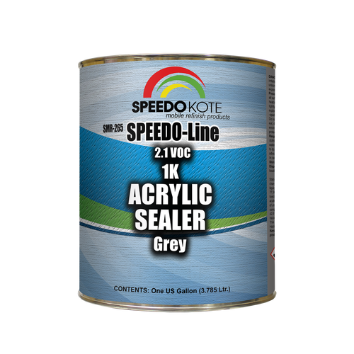 Acrylic Fast Dry 2.1 voc 1K Sealer Gray, one Gallon , SMR-265, Ready to Spray