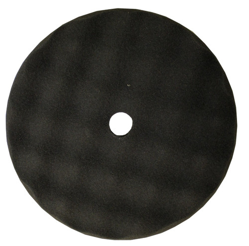 8 Inch Waffle Foam Automotive Black Finishing Pad, Hook and Loop, SS-BFOAM