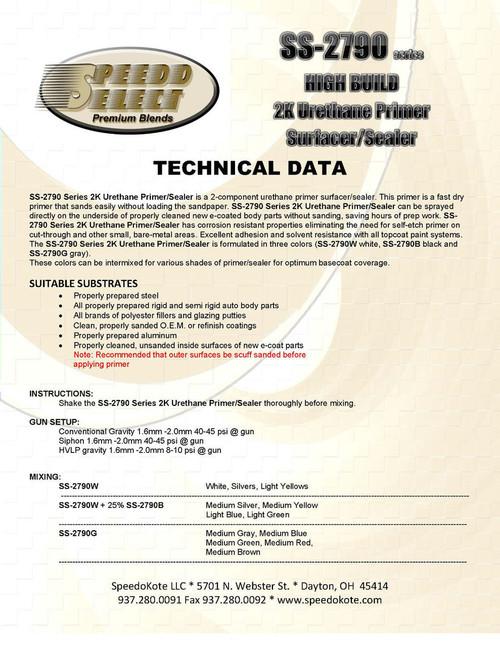 SS-2790G/SS-2790A High Build Primer GRAY GALLON KIT