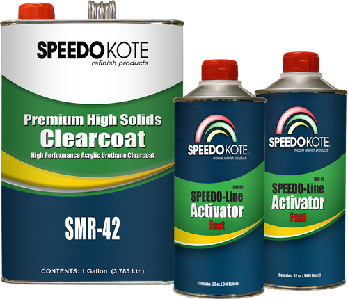 Premium High Solids Clear Coat, Clearcoat 6 Qt. Fast (Cool Temp.) Kit, SMR-42/60