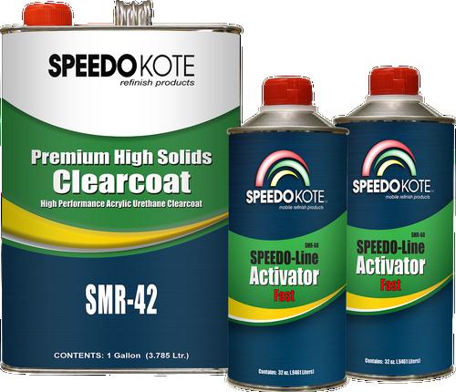 Premium High Solids Clear Coat, Clearcoat 6 Qt. Fast (Cool Temp.) Kit, SMR-42/60