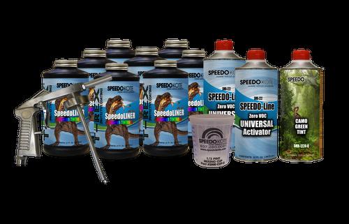T-Rex Camo Green Spray On urethane Truck Bed Liner, 8 quart kit, SMR-1000CG-K8