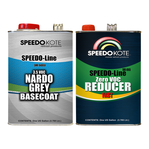 Nardo Grey Base Coat Kit, 2 Gallon Kit, Basecoat & Fast Reducer, SMR-9400LV/0065