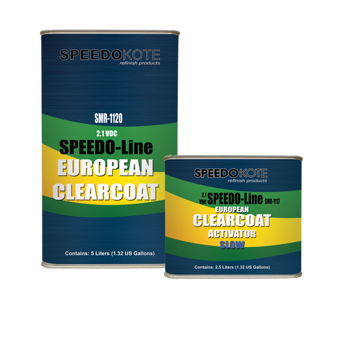 SMR-1120/1117, 2.1 VOC European Clear Coat 2K Urethane Slow Kit