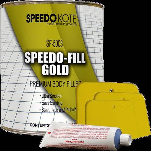 Speedo-Fill GOLD PREMIUM LIGHTWEIGHT BODY FILLER, SF-5003 + HARDENER & SPREADERS