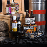 Griddle Spray, sauces, beer, and roasters! What else could he ask for, for that perfect summer BBQ?  Gift Includes:      Keepsake Canadian Made Manbox Gift Experience     Cajun Spice Rub     Newfoundland Screech BBQ Sauce     Smoked Sriracha and Garlic BBQ Mop Sauce     Maplewood Smoked Oil     Caron & Doucet BBQ Griddle Oil     Beer Can Chicken Roaster Kit     Great Lakes Pompous Ass     Lagunitas IPA     Bear Paw Meat Claws