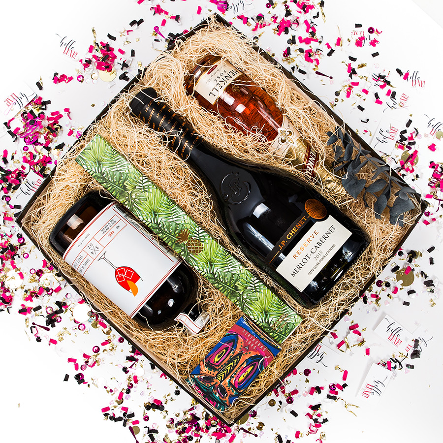 Red Wine Gift Box For Her