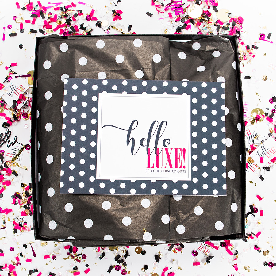 Opening a Hello Luxe Gift Box