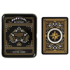 Survival Playing Cards in a tin