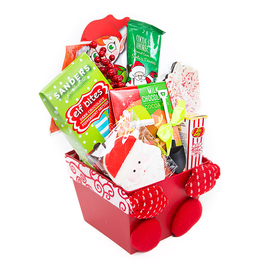 Christmas Gift Baskets For Kids.Snowman