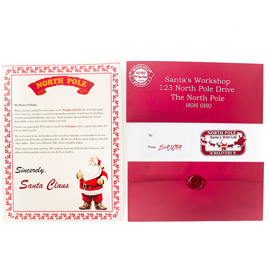 Letters From the North Pole Santas Wish List
