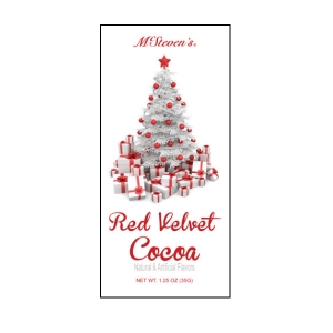 Red velvet cocoa letters from the north pole