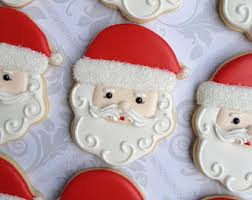 hand made santa cookie-letters from the north pole