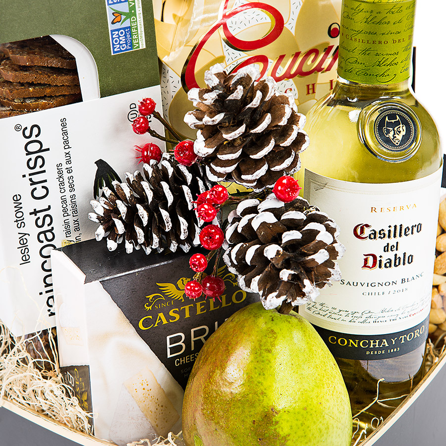 Wine and Cheese Gift Basket Delivery