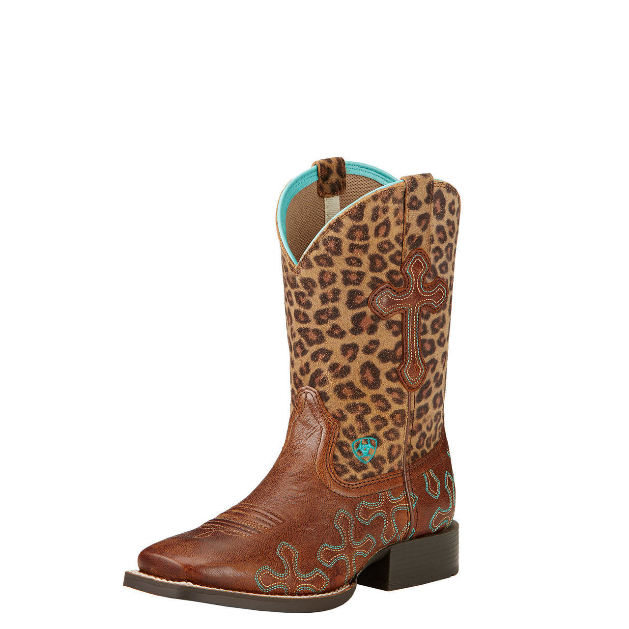 CHILDRENS //YOUTH ARIAT GIRLS SQUARE TOE CROSSROADS WESTERN BOOTS 10017311