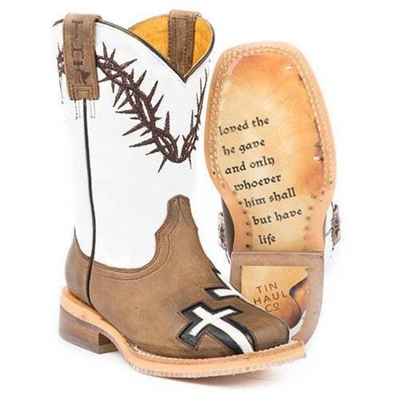 Kids Tin Haul Crosses Boots With Jonh 3