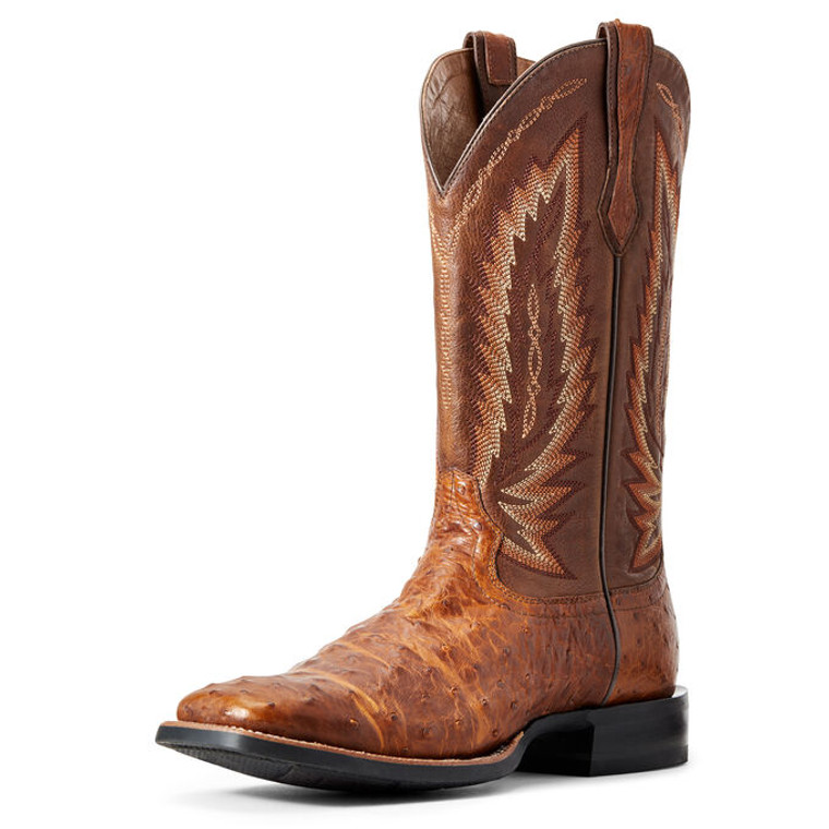 Ariat Men's Relentless Platinum Western Boot F/Q OSTRICH - 10025182