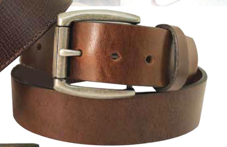 Gem Dandy Danbury Top-Grain Leather Belt with Nickel Buckle - 7173500 BR