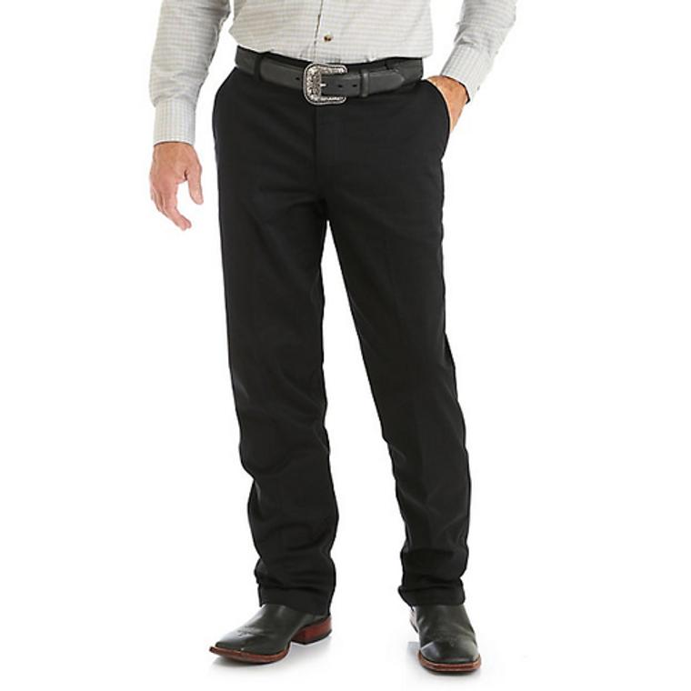 Wrangler Men's Casual Flat Front Western Pants - 00096BK