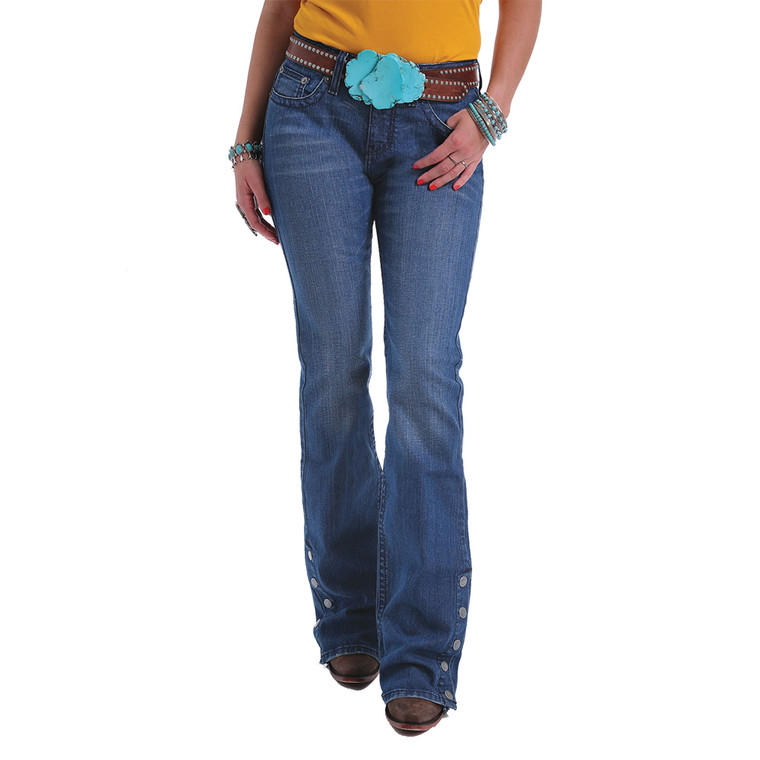 Women's March HANNAH Flare Leg Jean - Medium Stonewash- CB15054071
