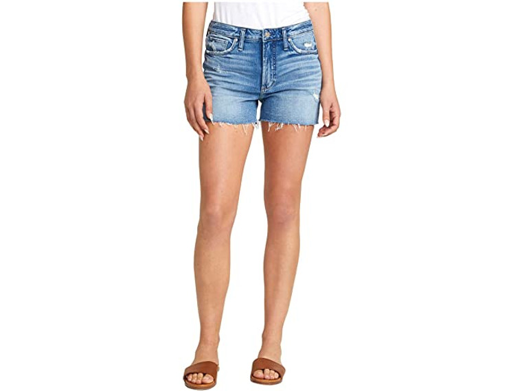 Silver Jeans Co. Sure Thing High-Rise Shorts - L28508SCP232